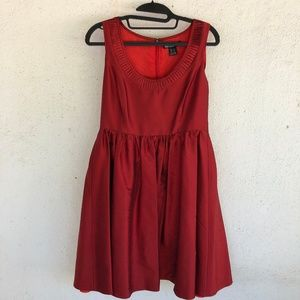 KENSIE red silk dress S